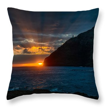 Makapuu Sunrise Throw Pillow