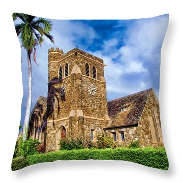 Makawao Union Church 1 Throw Pillow