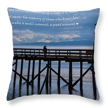 Throw Pillow featuring the photograph Make A Small Moment A Great Moment by Jordan Blackstone