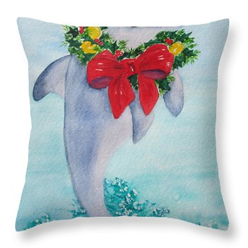 Throw Pillow featuring the painting Make A Splash by Diane DeSavoy