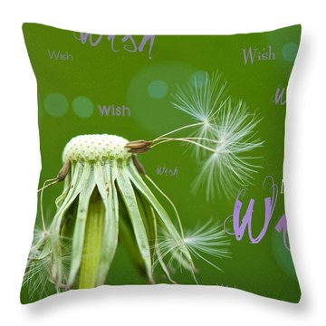 Make A Wish Card Throw Pillow