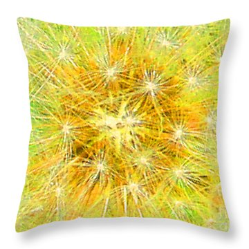 Make A Wish In Greenish Yellow Throw Pillow