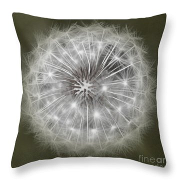 Make A Wish Throw Pillow by Peggy Hughes