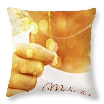 Make A Wish Throw Pillow by Valerie Reeves