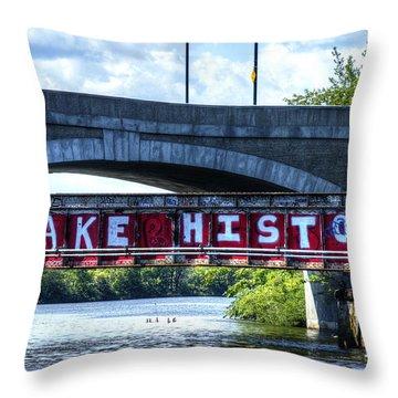 Make History Boston Throw Pillow