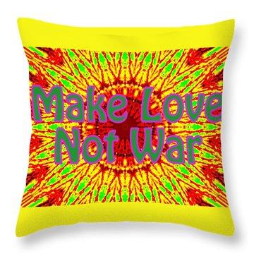 Make Love Not War 1 Throw Pillow