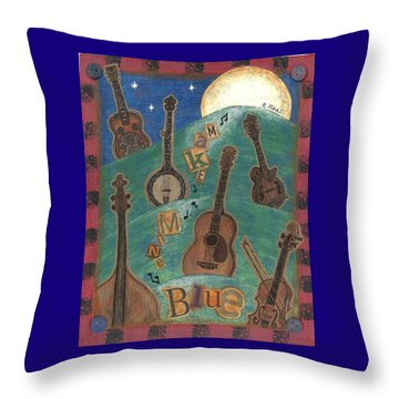 Make Mine Blue Throw Pillow