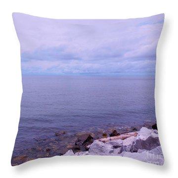 Make Mine On The Rocks Throw Pillow by Eloise Schneider