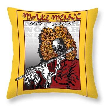 Make Music Not War Pop Art Throw Pillow