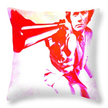 Throw Pillow featuring the painting Make My Day by Brian Reaves