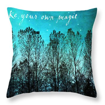 Make Your Own Magic Throw Pillow by Sylvia Cook