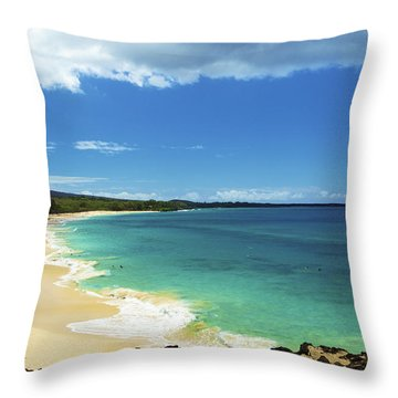 Makena Beach Lookout Throw Pillow by Kicka Witte