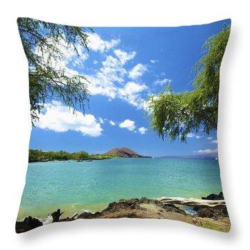 Makena Beach State Park Throw Pillow by Kicka Witte