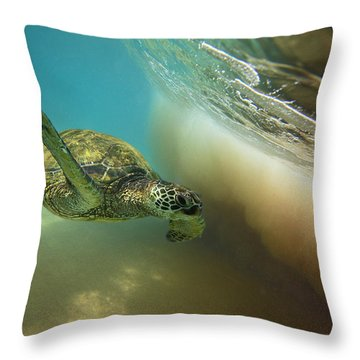 Makena Surfer Throw Pillow