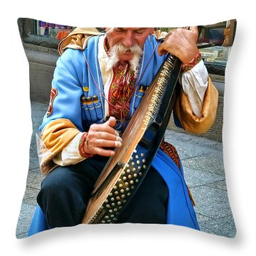 Throw Pillow featuring the photograph Making A Living by Mariola Bitner