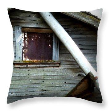Making Do Throw Pillow by Newel Hunter