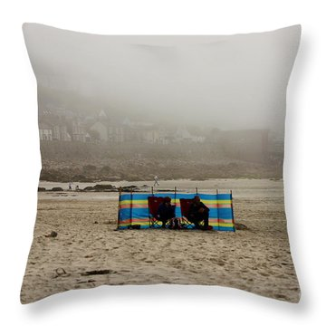 Making The Most Of Their Holiday Throw Pillow by Terri Waters
