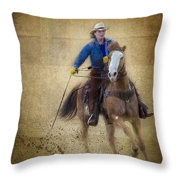 Making The Turn Throw Pillow by Susan Candelario