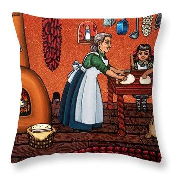 Making Tortillas Throw Pillow