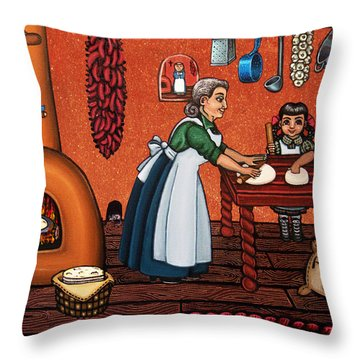 Making Tortillas Throw Pillow