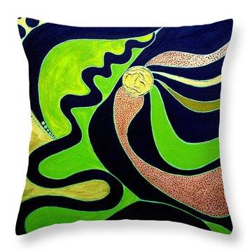 Making Waves.. Throw Pillow by Jolanta Anna Karolska