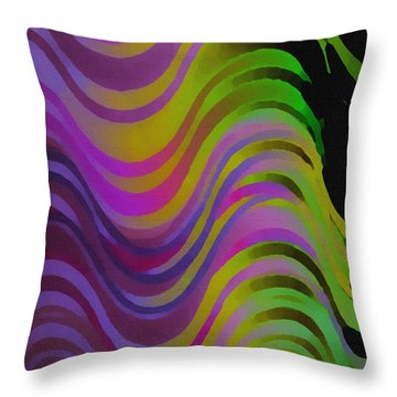 Making Waves Throw Pillow by Martin Howard
