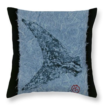 Mako Tail On Pale Blue Unryu Paper Throw Pillow
