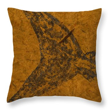 Mako Tail On Thai Banana Paper Throw Pillow