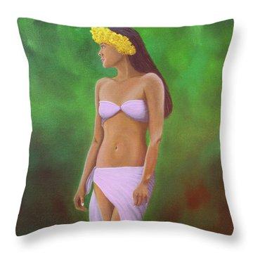 Mala Wahine Throw Pillow by Wahine Art