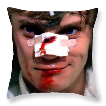 Malcolm Mcdowell As Alex In The Film Clockwork Orange By Stanley Kubrick 1971 Throw Pillow