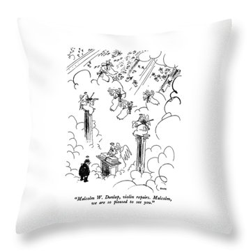 Malcolm W. Dunlap Throw Pillow