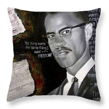 Malcom X Throw Pillow