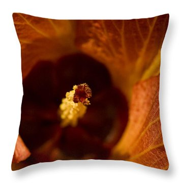Maldivian Flower Throw Pillow