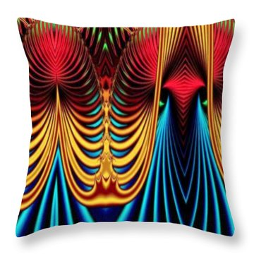 Throw Pillow featuring the mixed media Male And Female by Rafael Salazar