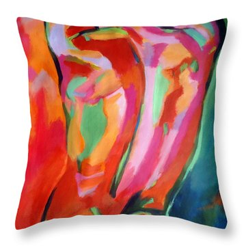 Male Figure Throw Pillow