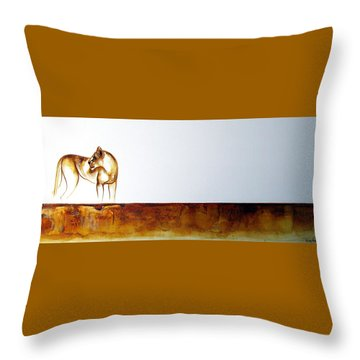 Lioness - Original Artwork Throw Pillow