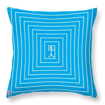 Male Maze Icon Throw Pillow by Thisisnotme