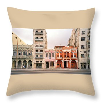 Malecon In Havana Throw Pillow