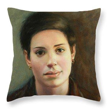 Malena Throw Pillow by Sarah Parks