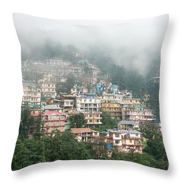 Maleod Ganj Of Dharamsala Throw Pillow