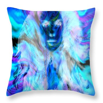 Malestrom Maiden Throw Pillow by Seth Weaver