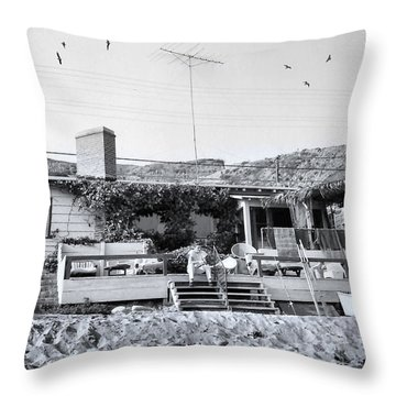 Malibu Beach House - 1960 Throw Pillow