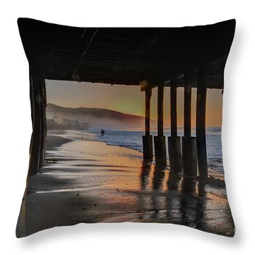 Malibu Color Throw Pillow