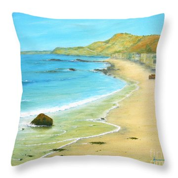 Malibu Road Throw Pillow by Jerome Stumphauzer