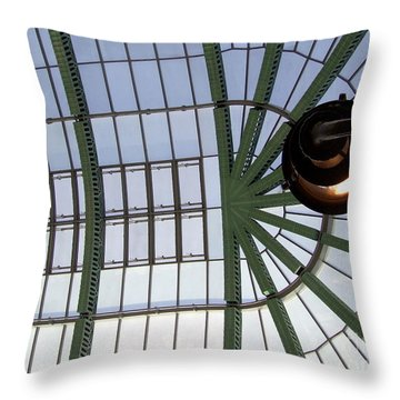 Throw Pillow featuring the photograph Mall Of Emirates Skylight by Andrea Anderegg