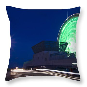 Mall Parking Lot With Ferris Wheel Throw Pillow