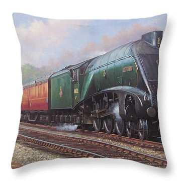 Mallard On The Elizabethan. Throw Pillow by Mike  Jeffries