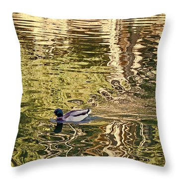 Mallard Painting Throw Pillow