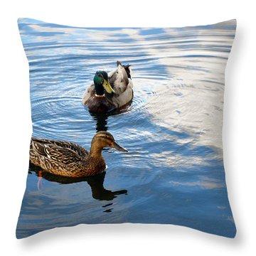 Mallards Lake Hopatcong Nj Throw Pillow