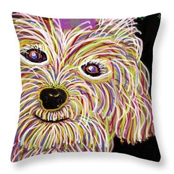 Maltese Art Throw Pillow